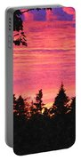 Evening In Paradise Painterly Style Portable Battery Charger