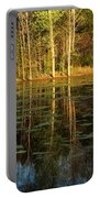 Evening Light On A Missouri Pond I Portable Battery Charger
