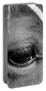 Eye Of The Horse Black And White Portable Battery Charger