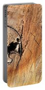 Face In The Wood Portable Battery Charger