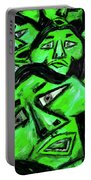 Faces - Green Portable Battery Charger