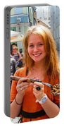 Faces Of Tallinn Estonia Portable Battery Charger by David Smith