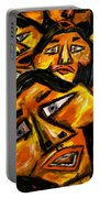 Faces Yellow Portable Battery Charger