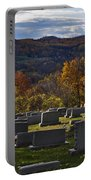 Fairview Cemetery In Autumn Portable Battery Charger