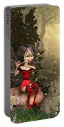 Forest Fairy Playing The Flute Portable Battery Charger