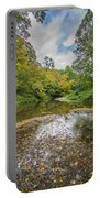 Fall At The Low Stream Portable Battery Charger