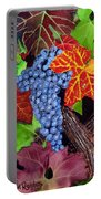 Fall Cabernet Sauvignon Grapes Portable Battery Charger by Mike Robles