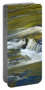 Fall Colors In River Rapids Portable Battery Charger