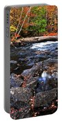 Fall Forest And River Landscape Portable Battery Charger