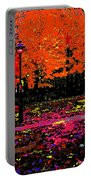 Fall In Red Portable Battery Charger