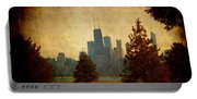 Fall In The City Portable Battery Charger