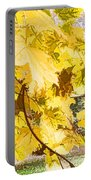 Fall Leaves Abstract Portable Battery Charger