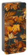 Fall Maple Leaves On Water Portable Battery Charger