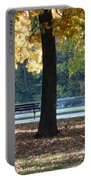 Fall Park Bench 1 Portable Battery Charger