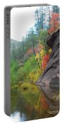 Fall Peeks From Behind The Rocks Portable Battery Charger