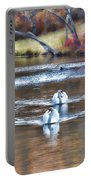 Fall Swans Portable Battery Charger