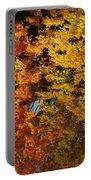 Fall Textures In Water Portable Battery Charger by LeeAnn McLaneGoetz McLaneGoetzStudioLLCcom