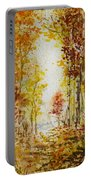 Fall Tree In Autumn Forest  Portable Battery Charger