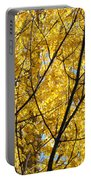 Fall Trees Art Prints Yellow Autumn Leaves Portable Battery Charger