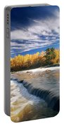 Fall Trees, Rainbow Falls, Whiteshell Portable Battery Charger