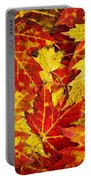 Fallen Autumn Maple Leaves  Portable Battery Charger by Elena Elisseeva