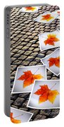 Fallen Autumn  Prints Portable Battery Charger