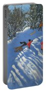 Falling Off The Sledge Portable Battery Charger