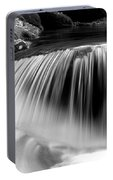 Falling Water Black And White Portable Battery Charger