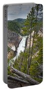 Falls In The Grand Canyon Of Yellowstone Portable Battery Charger
