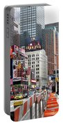 Amidst Color And Construction In Times Square Portable Battery Charger