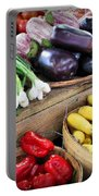 Farmers Market Summer Bounty Portable Battery Charger by Kristin Elmquist