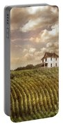 Farmhouse And Cornfield Portable Battery Charger
