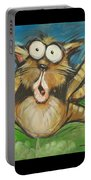 Farting Feline Portable Battery Charger