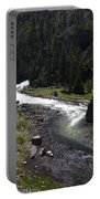 Fast Rapids On Firehole River Yellowstone  Portable Battery Charger