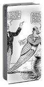 F.d. Roosevelt Cartoon Portable Battery Charger