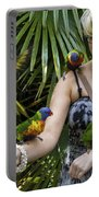 Feeding Rainbow Lorikeets Portable Battery Charger