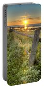 Fence Along The Shore Portable Battery Charger