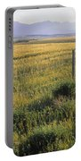 Fence And Barley Crop, Near Waterton Portable Battery Charger