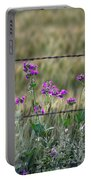 Fence And Flowers Portable Battery Charger