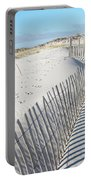 Fences Shadows And Sand Dunes Portable Battery Charger