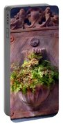Fern In Antique Wall Planter Portable Battery Charger