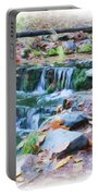 Fern Spring In Autumn Portable Battery Charger