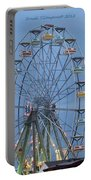 Ferris Wheel At Virginia Beach Portable Battery Charger