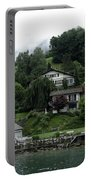 Few Houses On The Slope Of Mountain Next To Lake Lucerne In Switzerland Portable Battery Charger