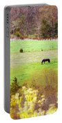Field Of My Dreams Horses Portable Battery Charger