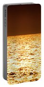 Fiery Sunset Over The Sea Portable Battery Charger