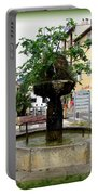 Fig Tree Fountain In Cassis Portable Battery Charger