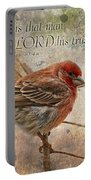 Finch Greeting Card With Verse Portable Battery Charger