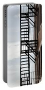 Fire Escape In Boston Portable Battery Charger