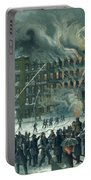Fire In The New York World Building Portable Battery Charger by American School